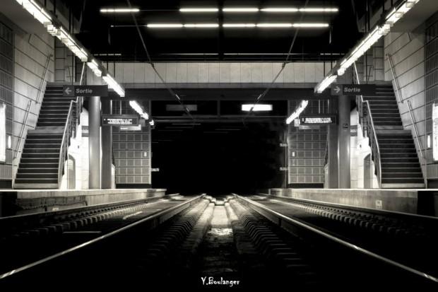 station métro beauvoisine nuit Rouen Wallpaper Yohann Boulanger Photographe